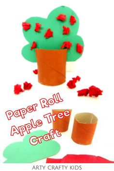 Looking for easy apple crafts for kids to make at home or preschool? This preschool apple tree craft for kids is a fun fall tree craft for kids that children can make during their first week of school using recycled toilet paper rolls. Get instructions for these fall apple crafts for kids + other easy fall crafts for kids here! Fall Toilet Paper Roll Crafts for Kids | Easy Preschool Crafts | 3D Apple Tree Craft for Toddlers | Preschool Autumn Crafts for Kids #AppleCrafts Easy Preschool Crafts, Easy Toddler Crafts, Easy Fall Crafts, Thanksgiving Crafts For Kids, Easy Arts And Crafts, Halloween Crafts For Kids, Crafts For Kids To Make, Toddler Fun, Preschool Activities