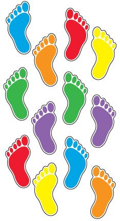 Footprints Classic Accents<sup>®</sup> Variety Pack Math For Kids, Yoga For Kids, Exercise For Kids, Preschool Learning Activities, Color Activities, Preschool Activities, Hand Washing Poster, Free Powerpoint Presentations, Frog Crafts