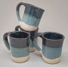 Set of FOUR  10 Ounce Coffee Mugs by Stegall's by StegallsPottery