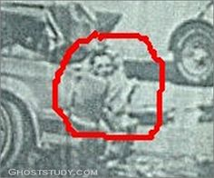 Car crash ghost face at Ghoststudy.com