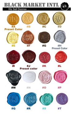 New selection of sealing wax colors available now in Etsy! (By #Blackmarketintl #Etsy)