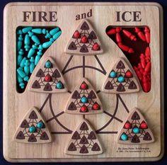 Fire and Ice, 2002, Pin International, by Jens-Peter Schliemann; board