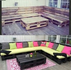 Diy outdoor bench and table