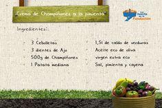 #Receta ecológica de crema de champiñones a la pimienta