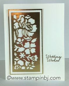 Floral Phrases Detailed framelits make a beautiful wedding card