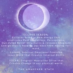 This aint my first eclipse rodeo I know how these babies work - what many of us are feeling right now is a call to integrate the energies we received at the full moon lunar eclipse, emotionally process and begin using that energy to our advantage by turning it into EXTERNAL CHANGE in our life. This is how eclipses always work. ⠀⠀⠀⠀⠀⠀⠀⠀⠀ ⠀⠀⠀⠀⠀⠀⠀⠀⠀ The Easier we release that resistance and shadow, we begin to Let go to let in more flow in our life at this time. ⠀⠀⠀⠀⠀⠀⠀⠀⠀ ⠀⠀⠀⠀⠀⠀⠀⠀ Ascension Symptoms, Magic Quotes, Radical Change, Indigo Children, New Energy, Numerology, Spiritual Awakening, Perception, Seasons