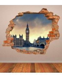 VINILO PARED ROTA 3D LONDRES II