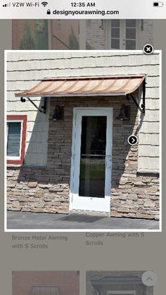 Metal Door Awning, Doors, Outdoor Decor, Home Decor, Decoration Home, Room Decor, Home Interior Design, Home Decoration, Interior Design