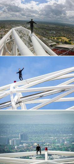 e0a6d7fd5 A daredevil just became the first person to scale the massive arch above  Wembley Stadium