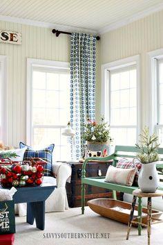 Savvy Southern Style: Christmas Farmhouse Style Sunroom