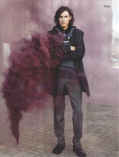 man | style | smoke | bomb