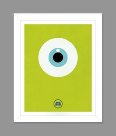 Digital Download Monsters Inc. Big Eye Poster Art Nursery Art Print, Walt Disney Monsters Inc. Nursery Art Boys Room - 8x10 or 11x14 on Etsy, $5.00