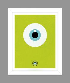 Digital Download Monsters Inc. Big Eye Poster Art Nursery Art Print, Walt Disney Monsters Inc. Nursery Art Boys Room - 8x10 or 11x14 on Etsy, $5.00