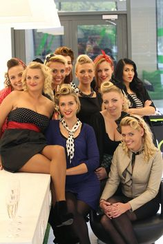 girls pinup hen party