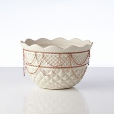 {JUXTAPOSITION} Crystal Bowl with Chain by Sarah Cihat + Michael Miller Porcelain