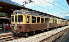 BOB ABeh I 310 / Interlaken Ost railway station — Trainspo Diesel, Swiss Railways, Electric Train, Locomotive, Trains, Euro, Switzerland, Rolling Stock, Diesel Fuel