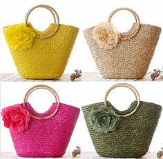 new handmade straw knitted women handmade by Geneliaboutique