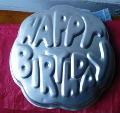 Vintage Wilton Cake Pan Happy Birthday Retired by ShopHereVintage