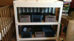 Organize the baby's room.
