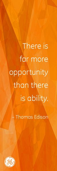 Opportunity is knocking! #Edison #GE