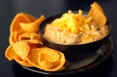 Chili-Cheese Dip from favfamilyrecipes.com #recipes #chilicheese #dip #appetizers #sides