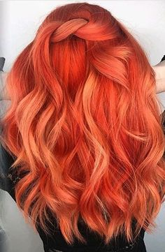 Inspiring Pastel Hair Ideas to make You Look Magical Hair Dye Colors, Cool Hair Color, Peachy Hair Color, Cheveux Oranges, Coloured Hair, Dye My Hair, Pastel Hair, Grunge Hair, Mermaid Hair