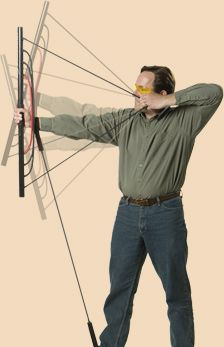 The Bow Trainer. It would be a good way to keep your arm strength up over the long cold Minnesota winters. Archery Bows, Archery Hunting, Hunting Gear, Bow Hunting, Arm And Shoulder Exercises, Arm And Shoulder Muscles, Shoulder Workout, Olympic Archery, Archery Training