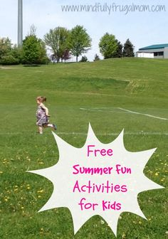 Free Summer Fun Activities for Kids: Everything you need to keep kids happy, entertained, and out of your hair! Outdoor Fun For Kids, Summer Fun For Kids, Free Summer, Kids Fun, Summer Sun, Summer Camp Crafts, Summer Activities For Kids, Camping Crafts, Kid Activities