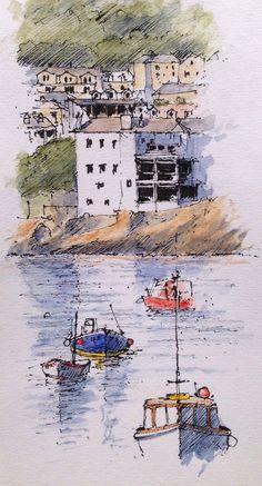 St Ives ~ sketch ~ John Edwards