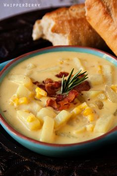 Cheddar Corn Chowder. Barefoot Contessa - 8 ounces bacon, chopped 1/4 cup olive oil 6 cups chopped yellow onions 4 tablespoons butter 1/2 cup flour 2 teaspoons kosher salt 1 teaspoon black pepper 1/2 teaspoon ground turmeric 12 cups chicken stock 6 cups medium-diced white boiling potatoes, unpeeled 10 cups corn kernels 2 cups half-and-half 1/2 pound sharp white cheddar cheese, grated