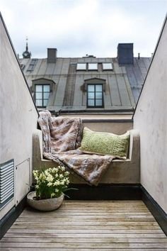 rooftop bench