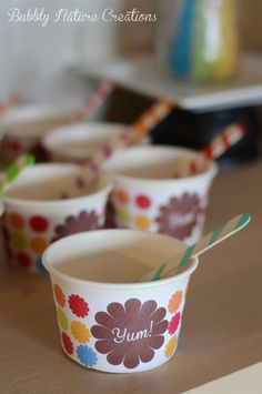 FREE Printable Ice Cream Cup Labels!