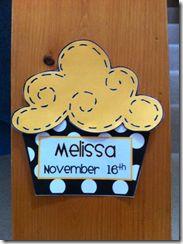 Birthday Cupcake for Bulletin Board/Door Display - cute