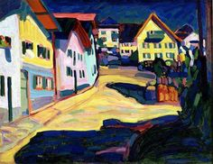 Add bold modern style to your home or office with the Global Gallery Murnau Burggrabenstrasse Wrapped Giclee Canvas Print Wall Art . This Kandinsky print. Henri Matisse, Kandinsky Art, Wassily Kandinsky Paintings, Dallas Museums, Painting Prints, Art Prints, Art Moderne, Art Abstrait, Canvas Frame
