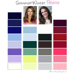 Summer-Winter Colour Palette by thirtysomethingurbangirl on Polyvore | #colorpalette #colourpalette #summerwinter #coolsummer