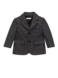 Gucci - Infant's Houndstooth Wool Blazer