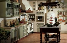 Relaxing Rustic Style Kitchen Designs