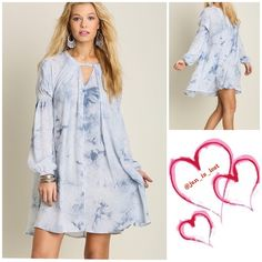 Blue/White A-Line Dress Tie Dye is the Key A-Line Dress *Strut your stuff in this dress and don't be alarmed if a lot of people ask you where you got your dress from..  Material is a Cotton Blend Any questions please ask. No Trades ✅ Price Firm Unless Bundling✅  Dresses