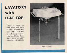 Vintage bathroom sinks -- the seven distinct design styles - Retro Renovation