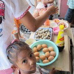 Easy, one ingredient appetizer - quail egg - Khanom Krok Khai Nok Krata