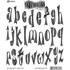 Dyan Reaveley's Dylusions Cling Stamp Collection-Dy's Alphabet, Multi