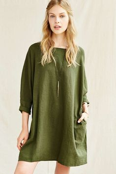 Urban Renewal Remade Linen Sack Dress - Urban Outfitters