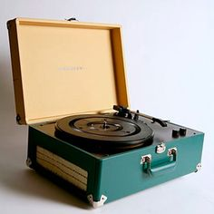 vintage portable suitcase record player