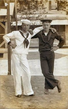 """Two Sailor Buddies"" Photograph [Circa Vintage Pictures, Vintage Images, Vintage Men, Vintage Black, Retro Men, Vintage Sailor, Vintage Nautical, Nautical Theme, Navy Chief"