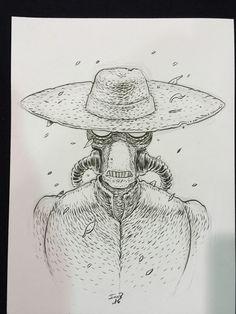 Twitter - Cad Bane (from STAR WARS) bust sketch by IAN BERTRAM! New list coming, write me! http://www.felixcomicart.com !