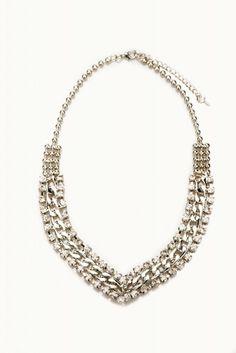 Colier metalic cu pietre Necklaces, Diamond, Metal, Jewelry, Fashion, Moda, Jewlery, Jewerly, Fashion Styles