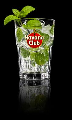 Ideal Havana Club Mojito In a glass bine spoonful of sugar oz of Chasers freshly squeezed lime juice and sprig of mint in a glass Add ice cubes and