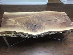 Table Live Edge Table, Home Decor, Homemade Home Decor, Decoration Home, Interior Decorating