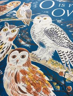 Here's a glimpse of a proof for Emily Sutton's 'O is for Owl', the latest in her alphabet series of prints http://www.stjudesprints.co.uk/products/o-is-for-owls