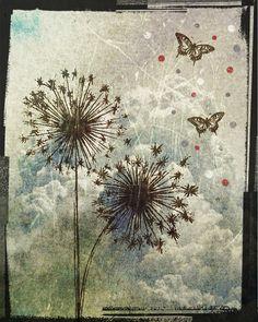 Dandelions and Butterflies Art Print by KivaAndCo on Etsy, $16.00